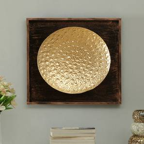 Oliver Hammered Wall Decor (Gold) by Urban Ladder - Front View Design 1 - 338520