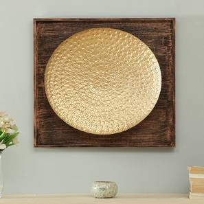 Oliver Hammered Wall Decor (Gold) by Urban Ladder - Front View Design 1 - 338521