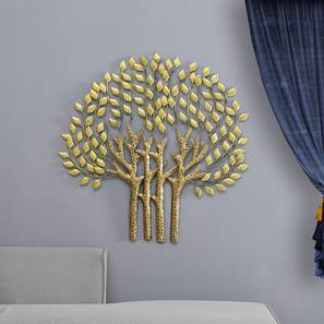 Tapasi Tree Wall Decor (Gold) by Urban Ladder - Front View Design 1 - 338607
