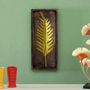 Tally Palm Leaf Wall Decor (Gold) by Urban Ladder - Front View Design 1 - 338609