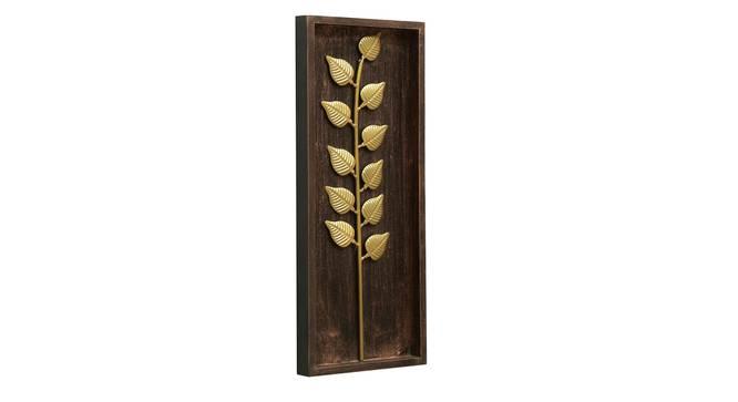 Titan Leaf Wall Decor (Gold) by Urban Ladder - Front View Design 1 - 338610