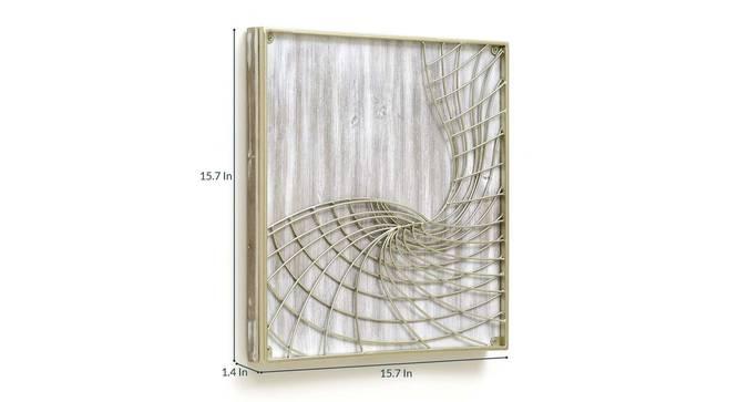 Matrix Wall Decor (Gold) by Urban Ladder - Design 1 Dimension - 338655