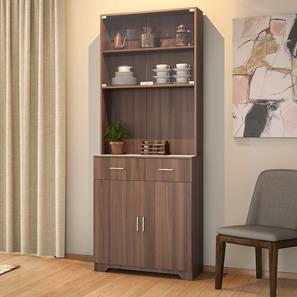 Hubert 4 Door Tall Display Cabinet (Classic Walnut Finish) by Urban Ladder - Full View Design 1 - 338671