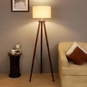 Desmond Floor Lamp (Brown Shade Colour, Walnut) by Urban Ladder - Front View Design 1 - 338683