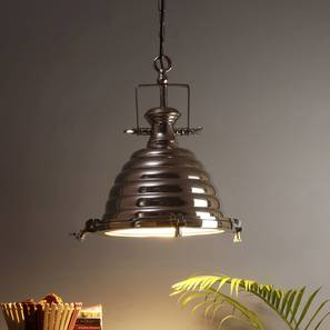 Armine Hanging Lamp (Nickel, Nickel Shade Colour) by Urban Ladder - Front View Design 1 - 338688