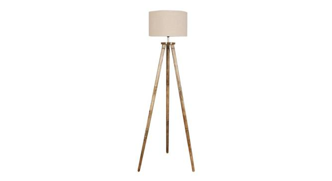 Fleur Floor Lamp (Natural, Brown Shade Colour) by Urban Ladder - Front View Design 1 - 338682