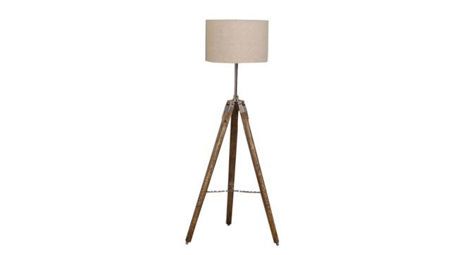 Giselle Floor Lamp (Natural, Brown Shade Colour) by Urban Ladder - Front View Design 1 - 338684
