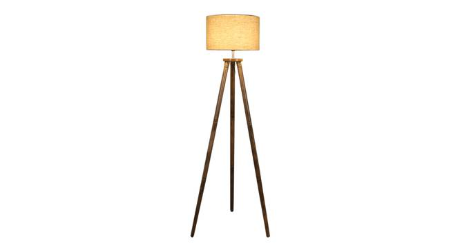 Fleur Floor Lamp (Natural, Brown Shade Colour) by Urban Ladder - Front View Design 1 - 338690