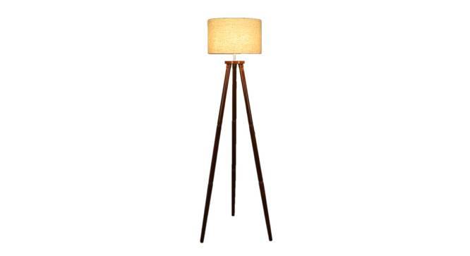 Desmond Floor Lamp (Brown Shade Colour, Walnut) by Urban Ladder - Front View Design 1 - 338691