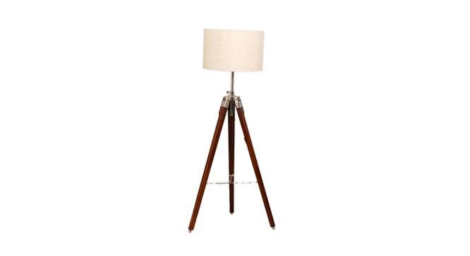 Madeleine Floor Lamp (Brown Shade Colour, Walnut) by Urban Ladder - Front View Design 1 - 338723
