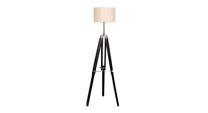 Lorelai Floor Lamp (Black, Brown Shade Colour) by Urban Ladder - Front View Design 1 - 338724