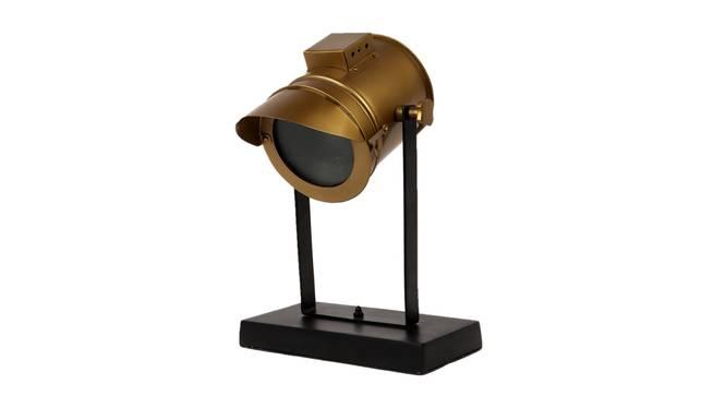 Kaira Study Lamp (Black, Antique Brass Shade Colour) by Urban Ladder - Cross View Design 1 - 338730