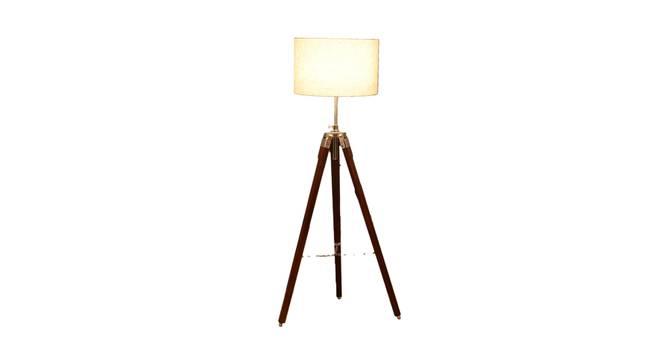 Madeleine Floor Lamp (Brown Shade Colour, Walnut) by Urban Ladder - Front View Design 1 - 338731
