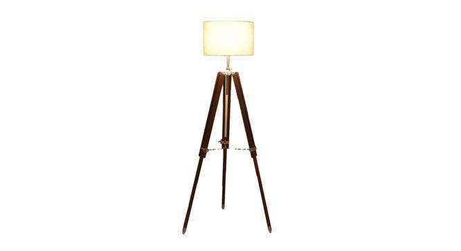 Margot Floor Lamp (Brown Shade Colour, Walnut) by Urban Ladder - Front View Design 1 - 338733