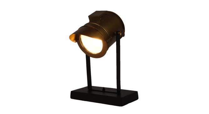 Kaira Study Lamp (Black, Antique Brass Shade Colour) by Urban Ladder - Cross View Design 1 - 338738