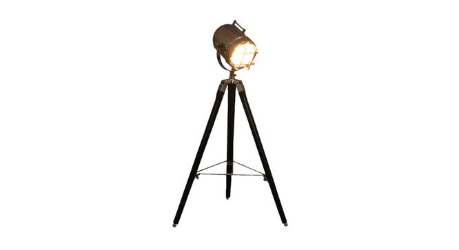 Pascale Floor Lamp (Black, Nickel Shade Colour) by Urban Ladder - Front View Design 1 - 338765