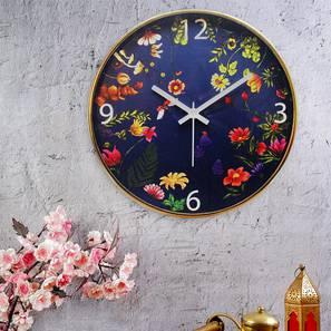Floral blisswall clock multi4 lp