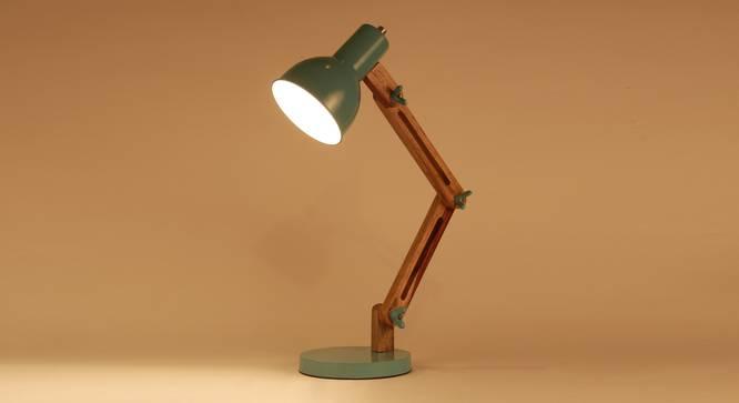 Auro Study  Table Lamp (Mango Wood Finish) by Urban Ladder - Design 1 Half View - 338876