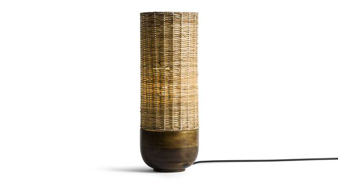 Callam  Tall Table Lamp (Mango Wood Finish) by Urban Ladder - Front View Design 1 - 338878