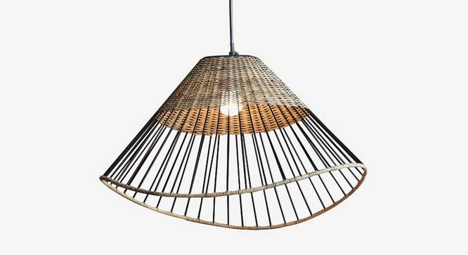 Kyoto Dome Hanging Lamp (Black Finish) by Urban Ladder - Front View Design 1 - 338888