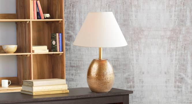 Cocoon  Table Lamp Ant. Brass (Antique Brass Finish) by Urban Ladder - Design 1 Half View - 338890