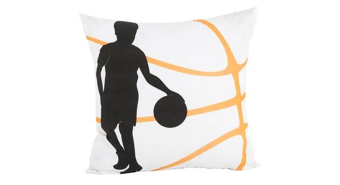 "Basket Cushion Cover (Black, 41 x 41 cm  (16"" X 16"") Cushion Size) by Urban Ladder - Front View Design 1 - 338908"