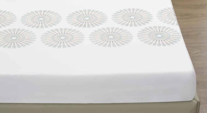 Bibi Bedsheet Set (Mist, King Size) by Urban Ladder - Design 1 Close View - 338949