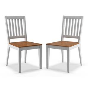 Diner dining chairs set of 2 finish golden oak lp
