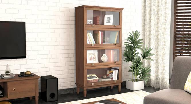 Malabar Barrister Bookshelf (60-Book Capacity) (Amber Walnut Finish) by Urban Ladder - Full View - 339160