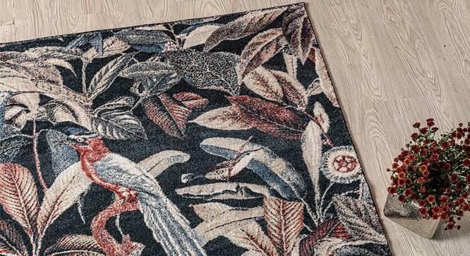 "Bohemia Carpet (Rectangle Carpet Shape, Navy, 152 x 81 cm  (60"" x 32"") Carpet Size) by Urban Ladder - Design 1 Half View - 339219"