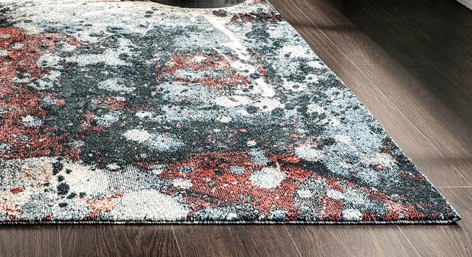 "Bohemia Carpet (Black, Rectangle Carpet Shape, 152 x 81 cm  (60"" x 32"") Carpet Size) by Urban Ladder - Design 1 Half View - 339222"