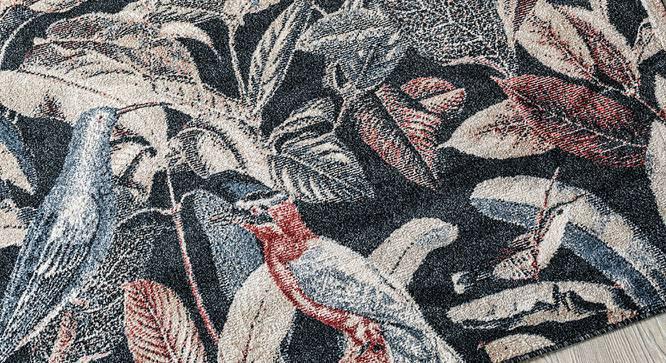 "Bohemia Carpet (Rectangle Carpet Shape, Navy, 152 x 81 cm  (60"" x 32"") Carpet Size) by Urban Ladder - Design 1 Close View - 339227"