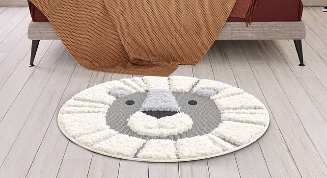 "Richie Carpet (Silver, Round Carpet Shape, 120 x 120 cm (48"" x 48"") Carpet Size) by Urban Ladder - Design 1 Close View - 339321"