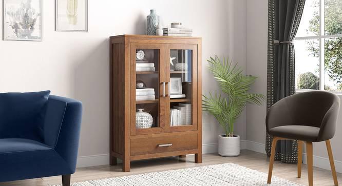 Carnegie Display Cabinet (Amber Walnut Finish) by Urban Ladder - Full View Design 1 - 339357
