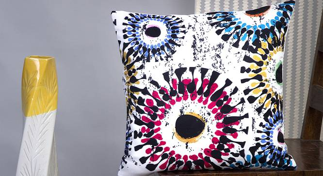"Slade Cushion Cover - Set of 2 (Blue, 41 x 41 cm  (16"" X 16"") Cushion Size) by Urban Ladder - Design 1 Half View - 339823"