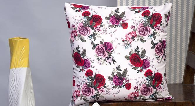 "Caitrin Cushion Cover - Set of 2 (Red, 30 x 46 cm  (12"" X 18"") Cushion Size) by Urban Ladder - Design 1 Half View - 339931"