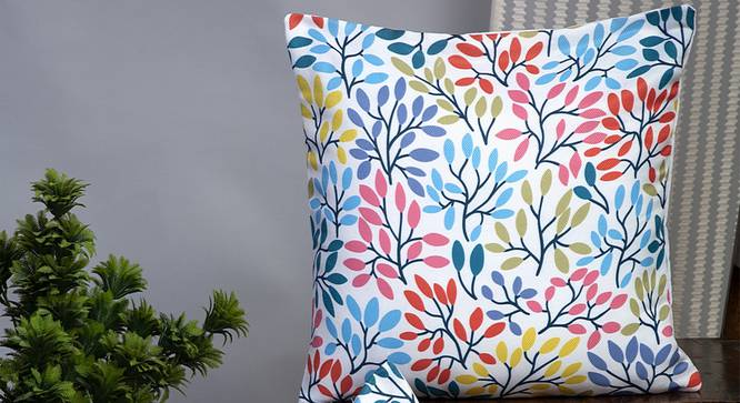 "Deandra Cushion Cover - Set of 2 (41 x 41 cm  (16"" X 16"") Cushion Size) by Urban Ladder - Design 1 Half View - 339962"