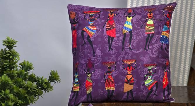 "Finola Cushion Cover - Set of 2 (Blue, 41 x 41 cm  (16"" X 16"") Cushion Size) by Urban Ladder - Design 1 Half View - 339998"