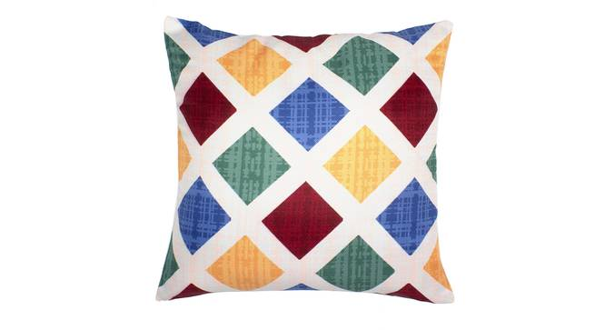 """Pavel Cushion Cover - Set of 2 (Yellow, 30 x 46 cm  (12"""" X 18"""") Cushion Size) by Urban Ladder - Front View Design 1 - 340089"""