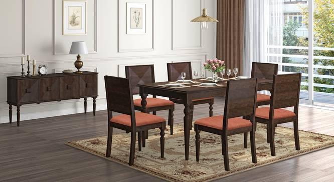 Mirasa 6 Seater Dining Set (Lava) by Urban Ladder - Design 1 Full View - 340220