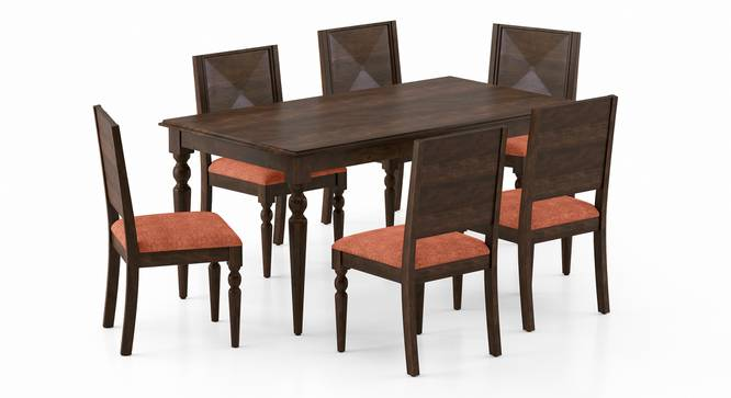 Mirasa 6 Seater Dining Set (Lava) by Urban Ladder - Front View Design 1 - 340221