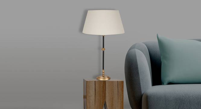 Ace Table Lamp (White Shade Colour, Cotton Shade Material) by Urban Ladder - Design 1 Half View - 340311
