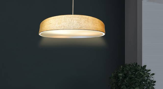 Isle Pendant Light (Beige, Linen Shade Material, Beige Shade Color) by Urban Ladder - Design 1 Half View - 340357