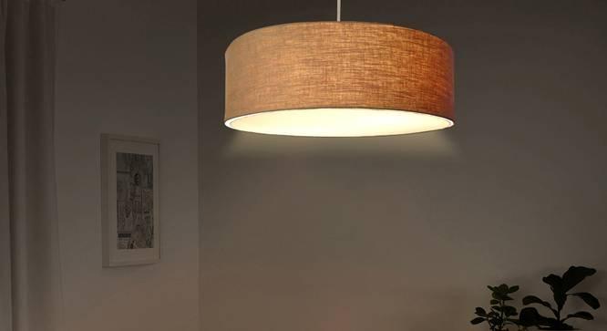 Oberon Pendant Light (Natural Linen, Linen Shade Material, Natural Linen Shade Color) by Urban Ladder - Design 1 Half View - 340445