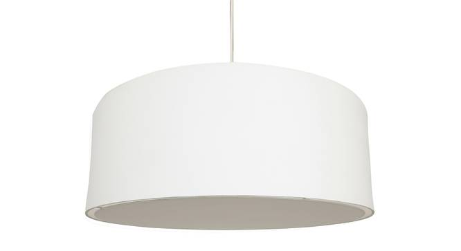 Oberon Pendant Light (White, Cotton Shade Material, White Shade Color) by Urban Ladder - Front View Design 1 - 340450