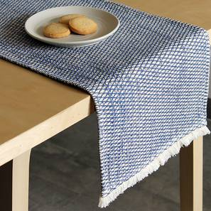 Akasa Table Runner (Blue) by Urban Ladder - Front View Design 1 - 340516