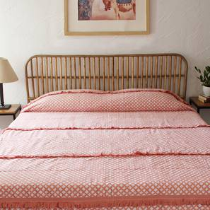 Leheriya Bedding Set (Pink, Queen Size) by Urban Ladder - Front View Design 1 - 340553