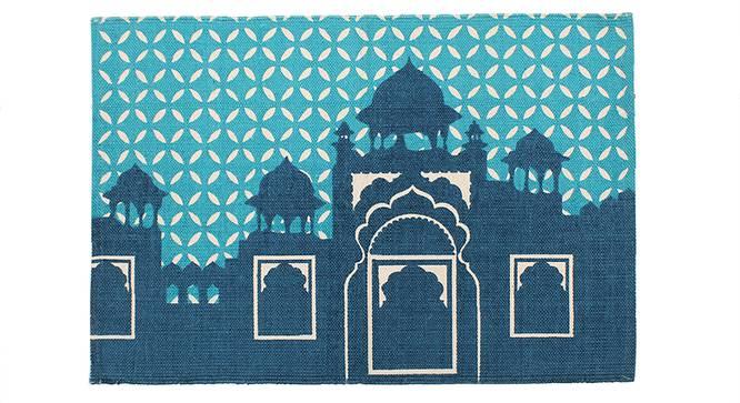 Mehel Door Mat (Blue) by Urban Ladder - Front View Design 1 - 340557