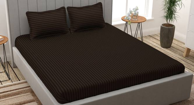 Achilles Bedsheet (Brown, King Size) by Urban Ladder - Design 1 Full View - 340644