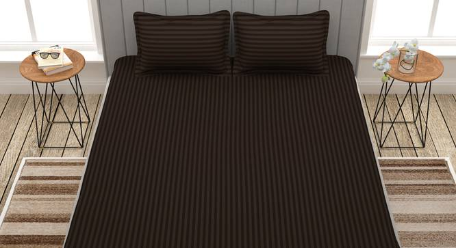 Achilles Bedsheet (Brown, King Size) by Urban Ladder - Front View Design 1 - 340650